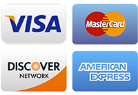 we accept visa master card discover american express